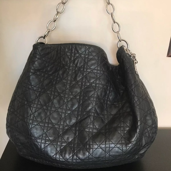 6b32e2dc924 Dior Bags   Christian Lady Cannage Quilted Lambskin Hobo   Poshmark